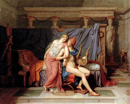 Los amores de Paris y Helena. Jacques Louis David.