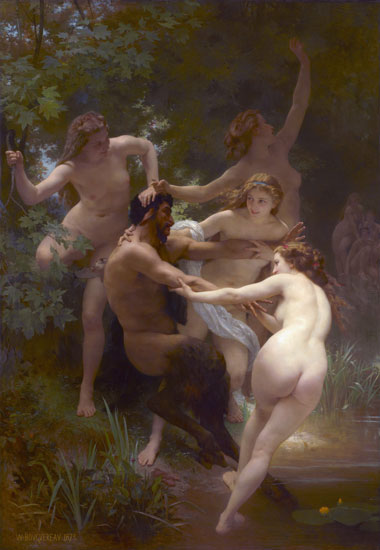 Ninfas con Sátiro. Adolphe-William Bougureau, 1872